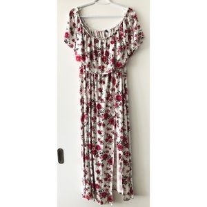 Size 12, H&M floral off-shoulder maxi dress